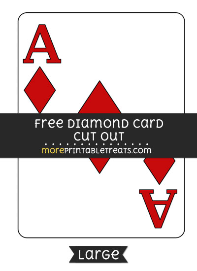 Free Diamond Card Cut Out - Large size printable