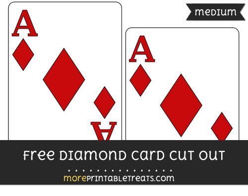 Free Diamond Card Cut Out - Medium Size Printable