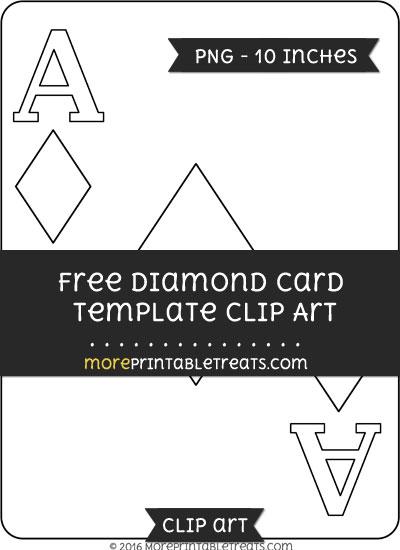 Free Diamond Card Template - Clipart
