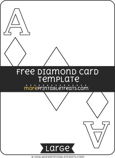 Free Diamond Card Template - Large