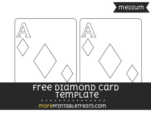 Free Diamond Card Template - Medium