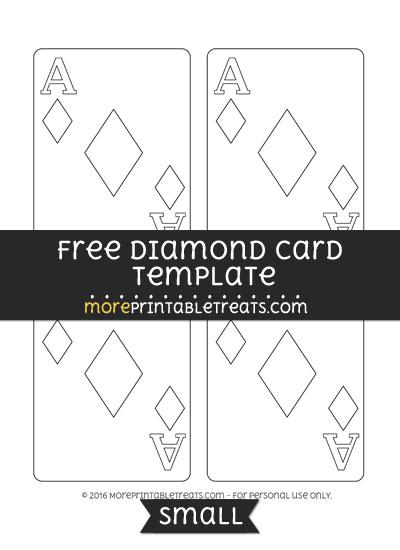 Free Diamond Card Template - Small