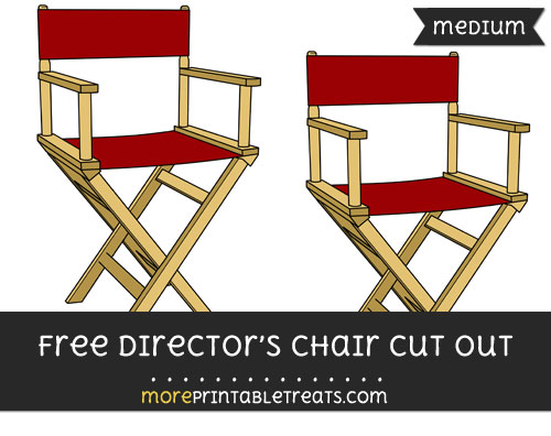 Free Directors Chair Cut Out - Medium Size Printable