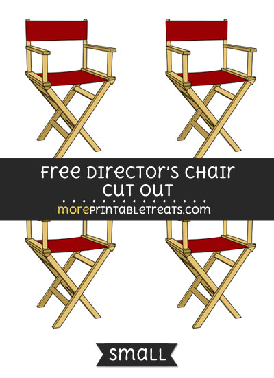 Free Directors Chair Cut Out - Small Size Printable