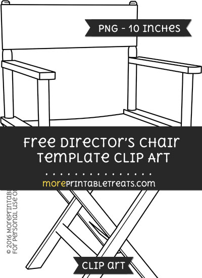 Free Directors Chair Template - Clipart
