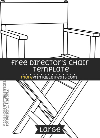 Free Directors Chair Template - Large