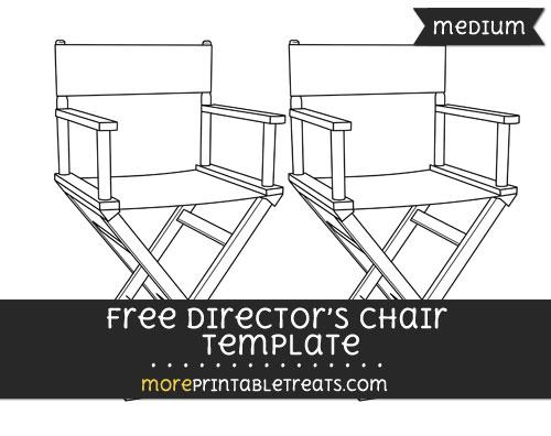 Free Directors Chair Template - Medium