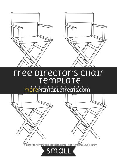 Free Directors Chair Template - Small
