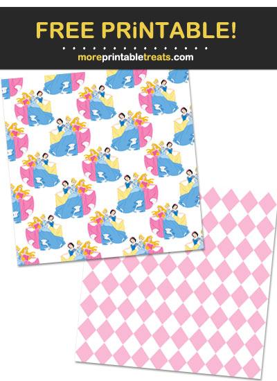 Free Printable Disney Princesses Scrapbook Papers