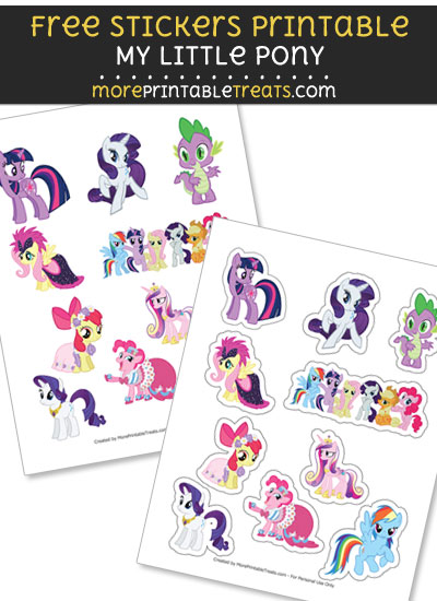 FREE DIY My Little Pony Stickers to Print at Home