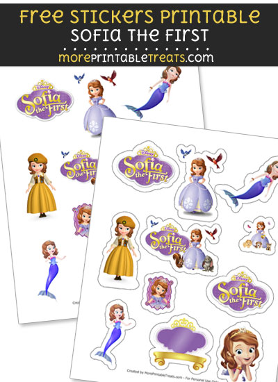 FREE DIY Sofia the First Stickers Printable to Print at Home