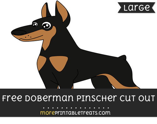 Free Doberman Pinscher Cut Out - Large size printable