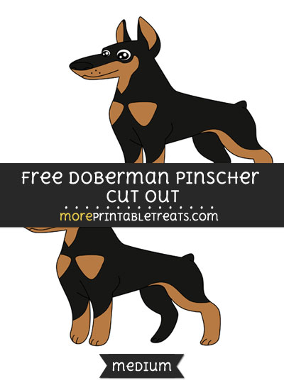 Free Doberman Pinscher Cut Out - Medium Size Printable