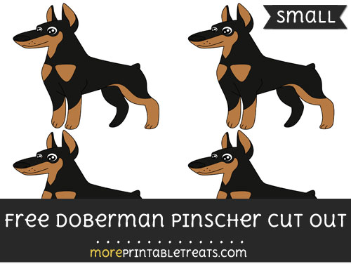 Free Doberman Pinscher Cut Out - Small Size Printable