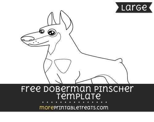 Free Doberman Pinscher Template - Large
