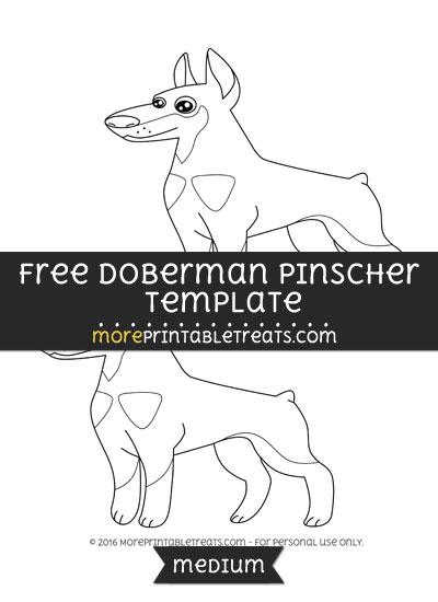 Free Doberman Pinscher Template - Medium