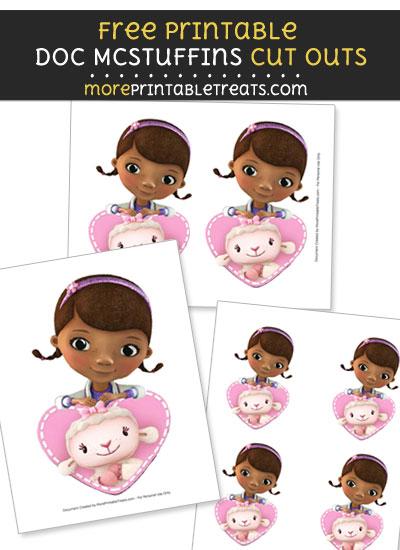 Free Doc McStuffins and Lambie Cut Outs - Printable - Doc McStuffins