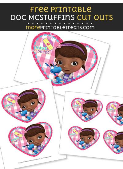 Free Doc McStuffins Heart Portrait Cut Outs - Printable - Doc McStuffins