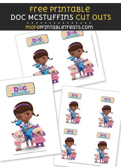Free Doc McStuffins Holding Stuffy Cut Outs - Printable - Doc McStuffins