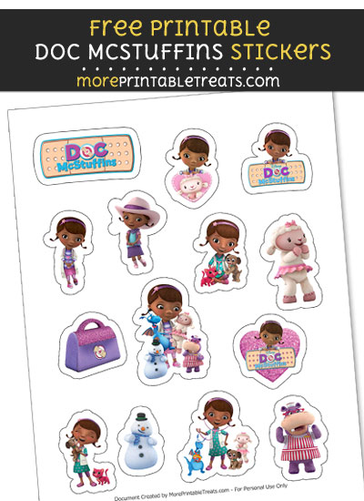 FREE Doc McStuffins Printable Stickers to Print at Home