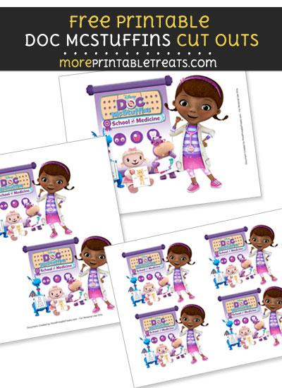 Free Doc McStuffins School of Medicine Cut Outs - Printable - Doc McStuffins