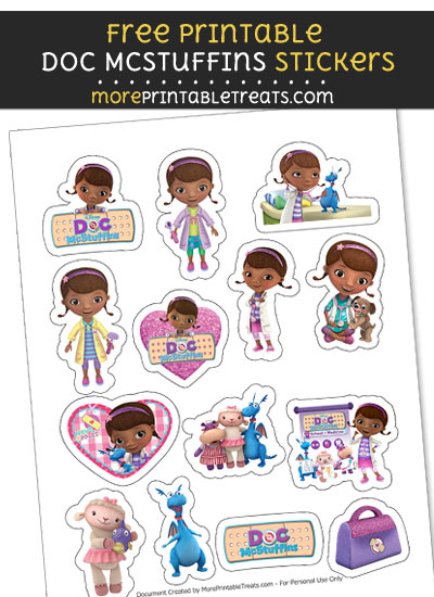 FREE Doc McStuffins Sticker Sheet to Print at Home