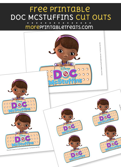 Free Doc McStuffins with Bandaid Logo Cut Outs - Printable - Doc McStuffins