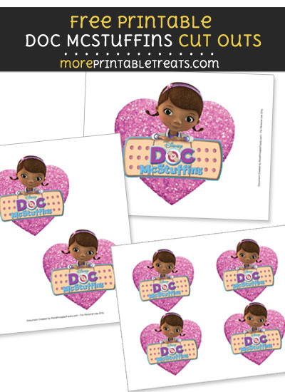 Free Doc McStuffins with Heart Cut Outs - Printable - Doc McStuffins