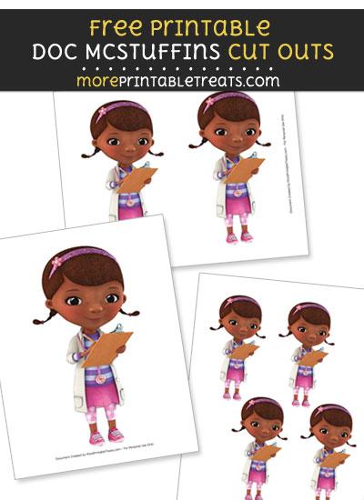 Free Doc McStuffins with Medical Chart Cut Outs - Printable - Doc McStuffins