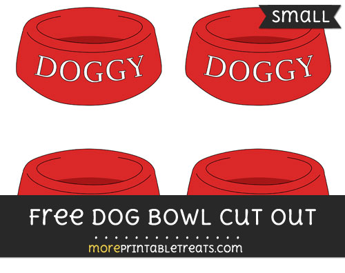 Free Dog Bowl Cut Out - Small Size Printable