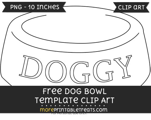 Free Dog Bowl Template - Clipart