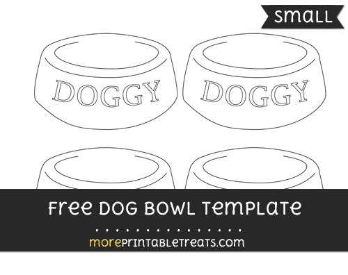 Free Dog Bowl Template - Small