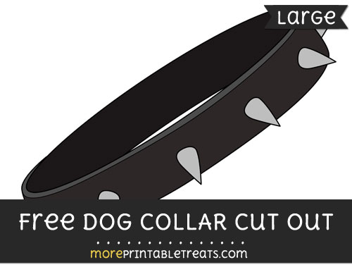 Free Dog Collar Cut Out - Large size printable