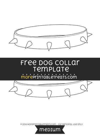Free Dog Collar Template - Medium