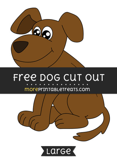 Free Dog Cut Out - Large size printable