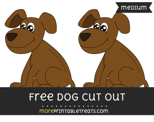 Free Dog Cut Out - Medium Size Printable