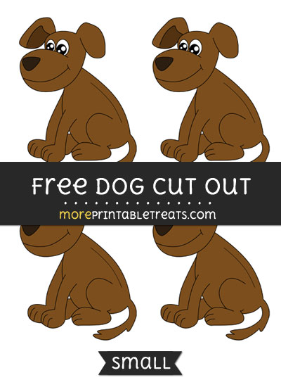Free Dog Cut Out - Small Size Printable