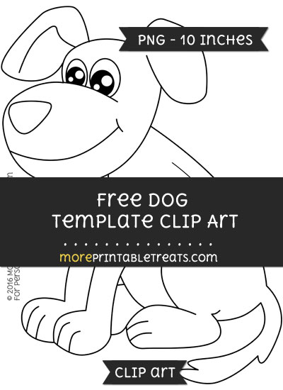 Free Dog Template - Clipart