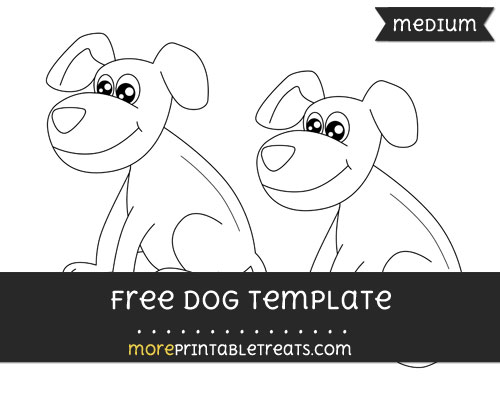 Free Dog Template - Medium