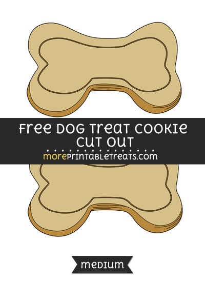 Free Dog Treat Cookie Cut Out - Medium Size Printable