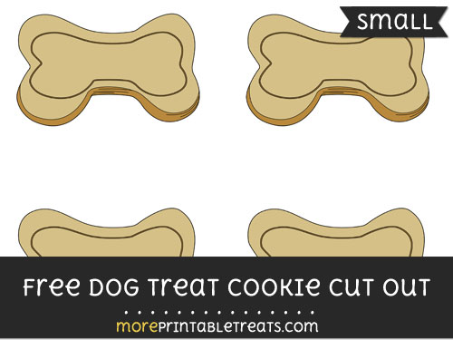 Free Dog Treat Cookie Cut Out - Small Size Printable