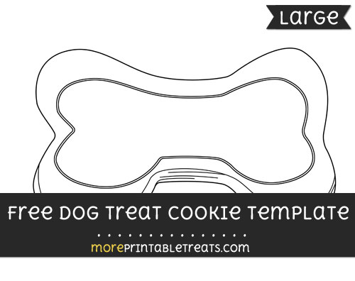 Free Dog Treat Cookie Template - Large