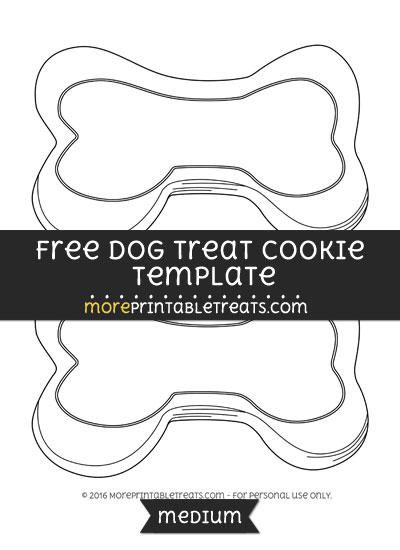 Free Dog Treat Cookie Template - Medium