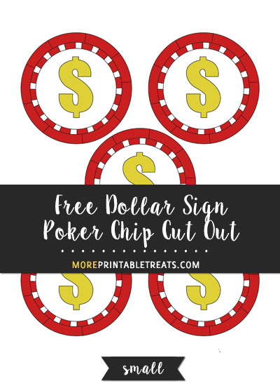 Free Dollar Sign Poker Chip Cut Out - Small