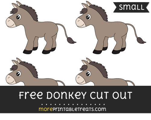 Free Donkey Cut Out - Small Size Printable