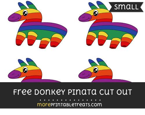 Free Donkey Pinata Cut Out - Small Size Printable