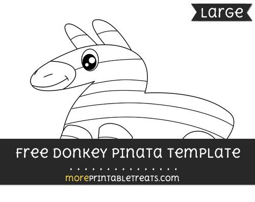 Free Donkey Pinata Template - Large