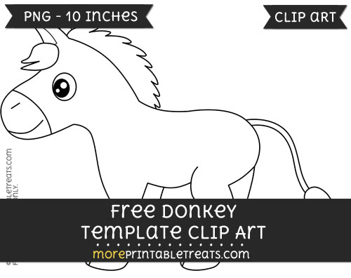 Free Donkey Template - Clipart