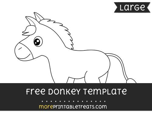 Free Donkey Template - Large