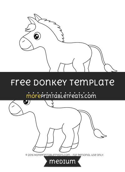 Free Donkey Template - Medium